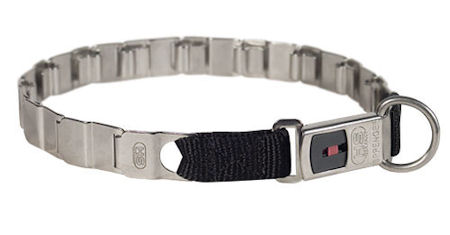 24 inch STAINLESS STEEL Sprenger dog collar NECK TECH COLLAR for Amstaff
