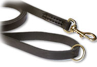 6 Foot Leather Snap Lead for Amstaff