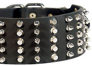 3 inch Spiked and Studded Amstaff collar
