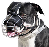 Basket Dog Muzzle For AMSTAFF-Wire Cage Dog Muzzle for AMSTAFF