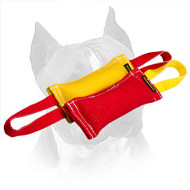 Amstaff Puppy Training Set of 2 French Linen Bite Tugs