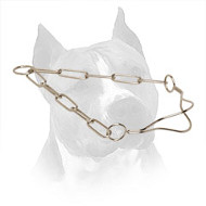 Chrome Plated Amstaff Throat Line Collar