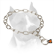 Choke Chain Amstaff Fur Saver Collar - 3mm link diameter