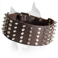 3 inch Spiked and Studded Dog Collar For American Staffordshire Terrier