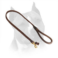 Braided American Staffordshire Terrier Leather Dog Leash