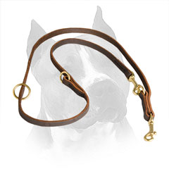 Leather Amstaff Leash for Different Activities