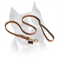 Latigo Leather Amstaff Braided Dog Leash