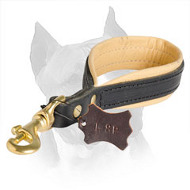 Amstaff Buddy Belt Short Leather Traffic Dog Lead