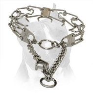 Chrome Plated Steel Amstaff Prong Collar - 3.00 mm (1/9 inch) link diameter