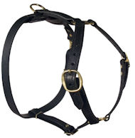 Classic Leather Harness For Big Dogs-Amstaff harness