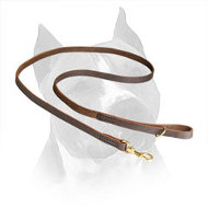 Super Convenient Amstaff Lead Made of Carefully Stitched Leather
