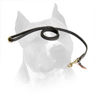 Multitasking Leather Amstaff Leash for Comfy Handling