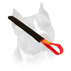 French Linen Bite Tug For Amstaff With Stitched Handle