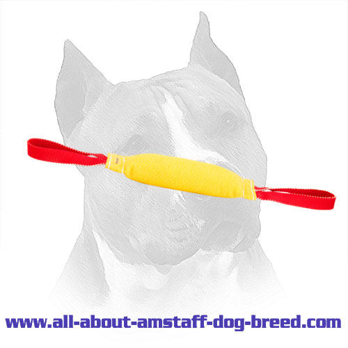 Amstaff French Linen Bite Tug with Two Nylon Loops