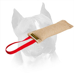 Jute Amstaff Bite Tug With Nylon Hand Loop