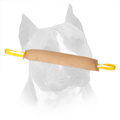 Amstaff Leather Bite Tug With Nylon Handles