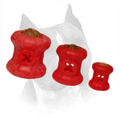 Toys Rubber Amstaff Food Holes