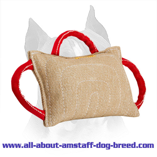 Amstaff Training Pillow Made Of Jute Wide Bite Area