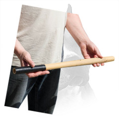 Covered Tape Grip Handle Of Bamboo Amstaff Training Stick