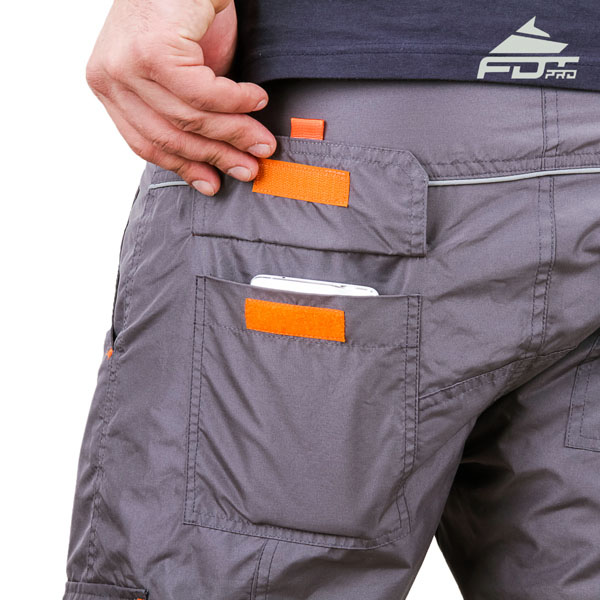 Convenient Design Pro Pants with Strong Side Pockets for Dog Training