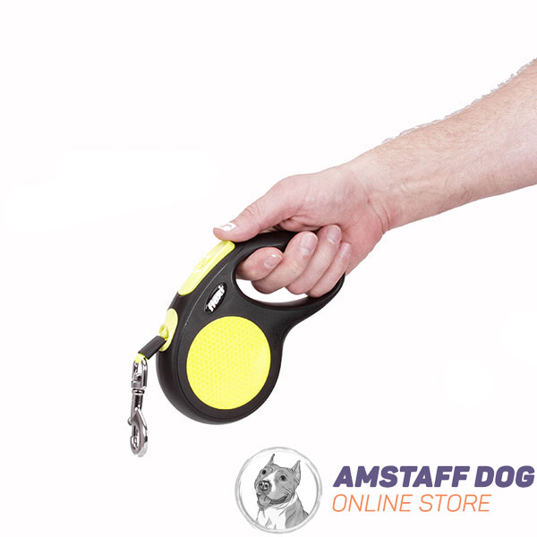 Neon Flexi Dog Leash for Handling Medium Dogs