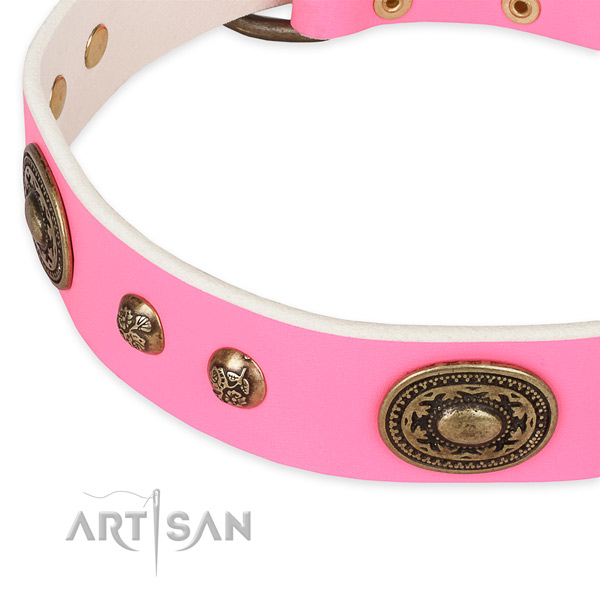 Stylish design leather collar for your stylish pet