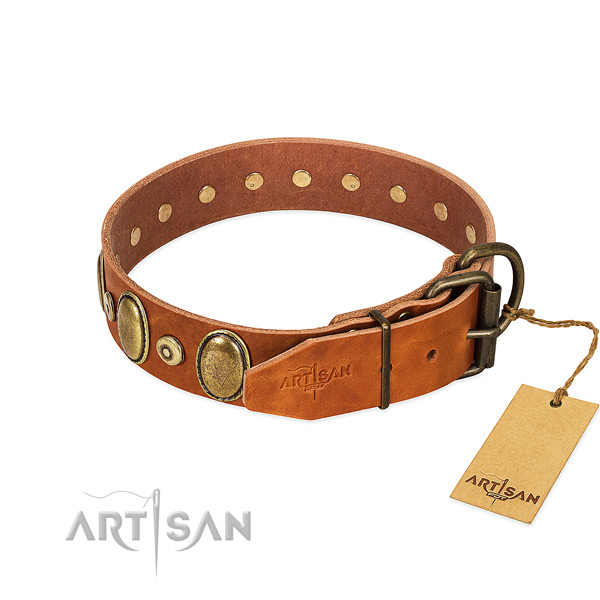 Durable leather collar crafted for your doggie