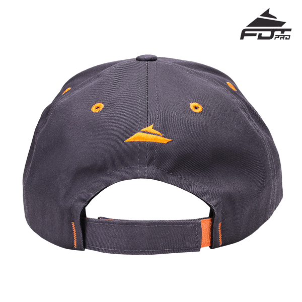 Dog Walking Easy to Adjust Unisex Snapback Cap of Dark Grey