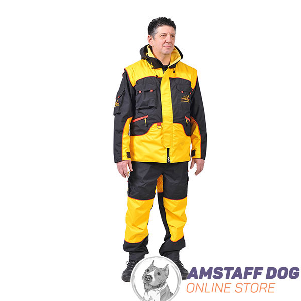 Professional Dog Training Suit of Water Resistant Membrane Fabric