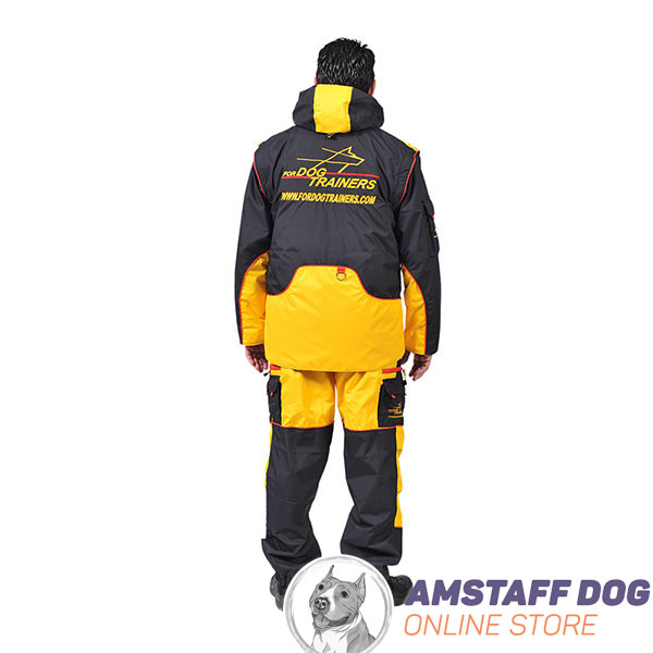 Membrane Material Training Bite Suit with Back Pockets