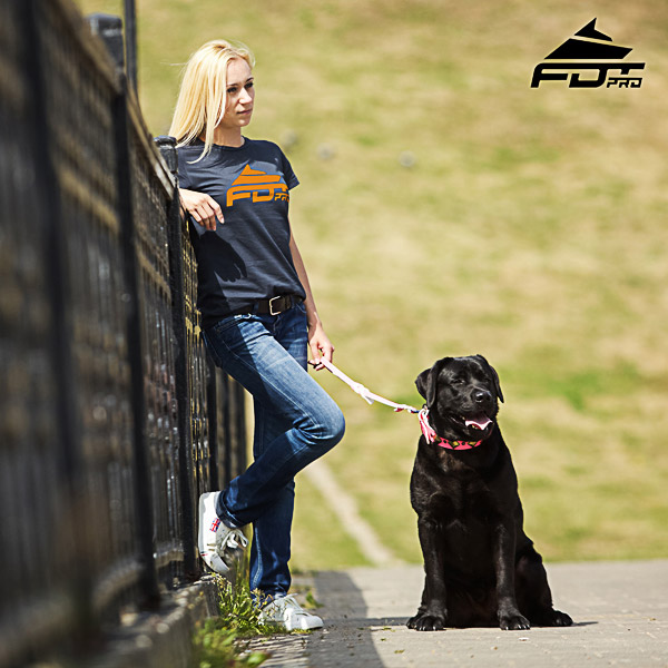 Dog Trainers Women T-shirt of Fine Quality Cotton