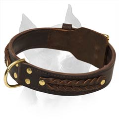 Soft Leather Dog Collar Is Pleasant For The Skin