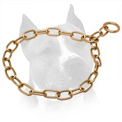 Curogan Chain Amstaff Collar With Choke Effect