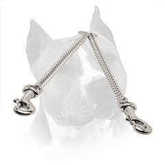 Chrome Plated Steel Amstaff Chain Coupler for Daily Walking