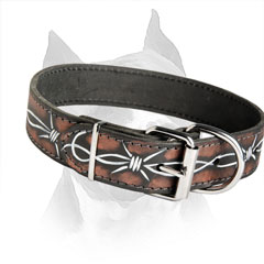 Beneficial Leather Dog Collar For Easy Adjustment On  The Dog's Neck