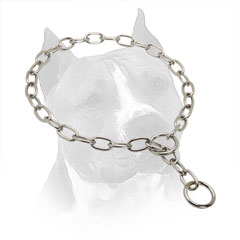 Steel Slip Collar For Amstaff with Chrome Plated Links