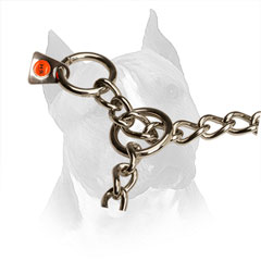 O-rings Made of Stainless Steel Of Chain Amstaff Choke Collar