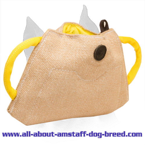 Top-Grade Amstaff Puppy Bite Builder Crafted of Jute