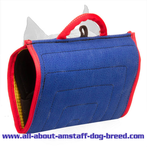 Upgraded Amstaff Bite Builder Made of French Linen