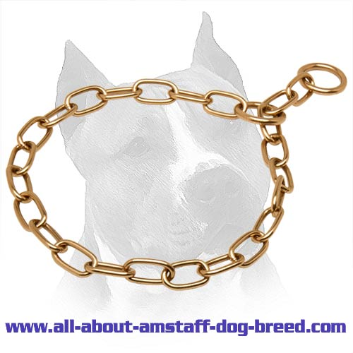 Amstaff Curogan Choke Fur Saver Collar - 3mm link diameter