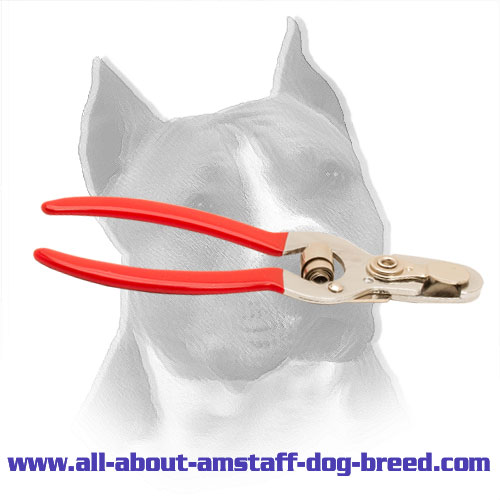 Amstaff Nail Trimmer with Nonslip Vinyl Handles