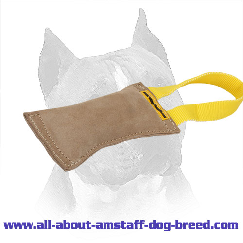 Professional Leather Amstaff Bite Tug with 1 Handle