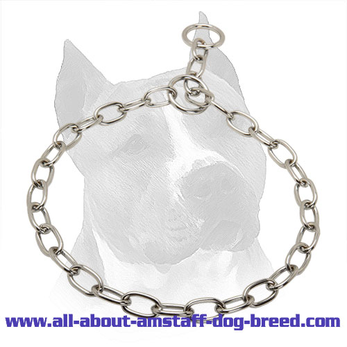 Amstaff Fur Saver Slip Collar - 1/8 inch (3,5 mm) link diameter