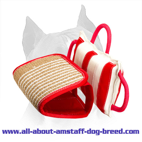 'Biting-Jaws' Training Amstaff Pillow Made of Jute