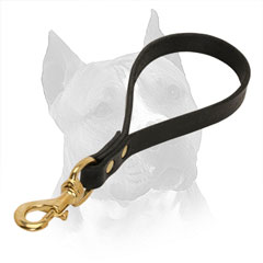 Leather Dog Leash for Amstaff Walking