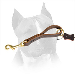 Leather Dog Pull Tab for Amstaff with Reliable Stitching