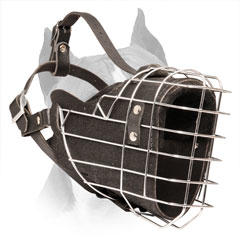 Amstaff Wire Basket Dog Muzzle with Good Air Circulation