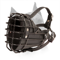 Wire Basket Dog Muzzle for Amstaff Easy Breathing