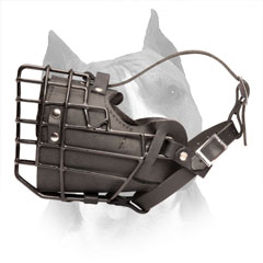 Amstaff Wire Cage Dog Muzzle with Rubber Layer