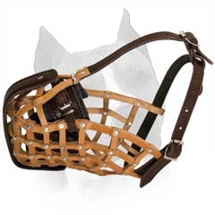 Comfortable Durable Basket Muzzle With Soft Padding